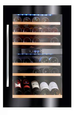 מבריק מקרר יין אינטגרלי Climadiff דגם AV46CDZI | מקררי יין | מקרר יין XL-67
